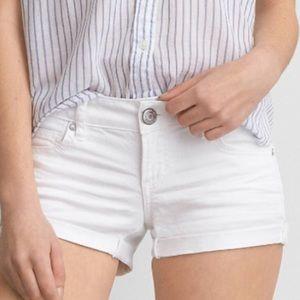 American Eagle white denim stretch shorts size 12